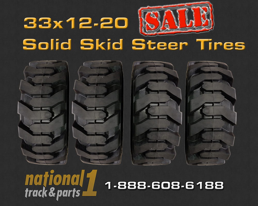 Skid Steer Tyres Set Of on Cat 287b Undercarriage Parts