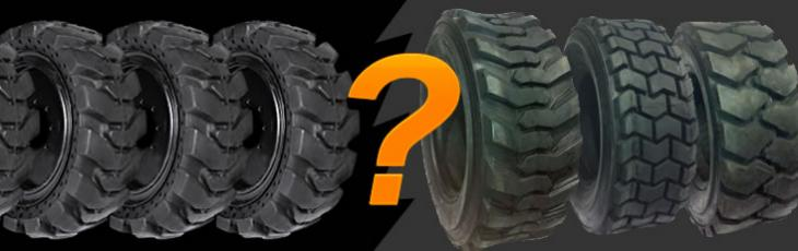Skid Steer Tires - Solid vs  Pneumatic: Which One Is Right For Your